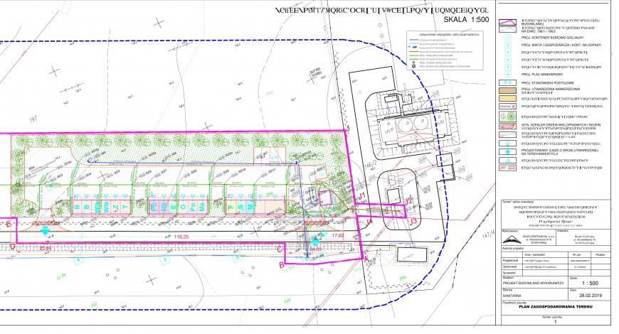 Zdjęcie przedstawia plan budowy PSZOK w miejscowości Świętajno