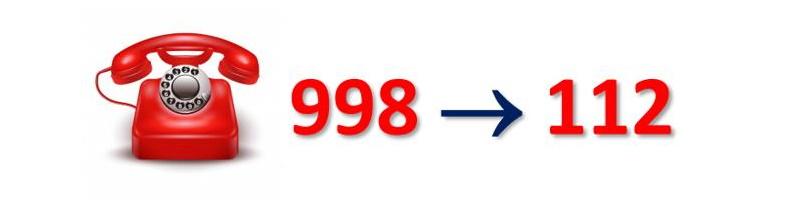 Ilustracja do informacji: UWAGA - przełączenie numeru 998
