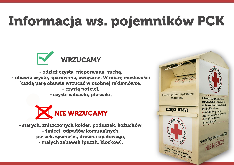 Ilustracja do informacji: Informacja ws. pojemników PCK